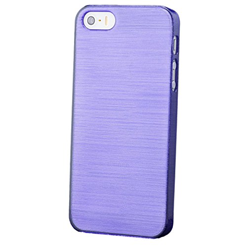 Apple iPhone SE / 5S / 5 | iCues Hard Candy Case Lila | [Display Schutzfolie Inklusive]  Schutzhülle Hülle Cover Schutz (Hard Cases Candy)