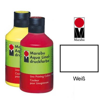 Marabu Aqua-Linoldruckfarbe, wei , 250 ml VE = 1