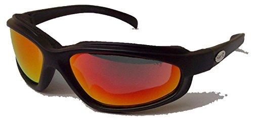Preisvergleich Produktbild Curv Z Motorradbrille,  weich,  luftig,  Schaumstoffpolsterung,  verspiegelte Gläser,  mit gratis Tasche