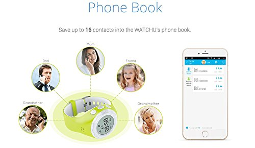 WATCHU – The GPS Tracking Smart Watch for Kids – UK Company – UK App – UK Technical Support (Bubblegum Blue)