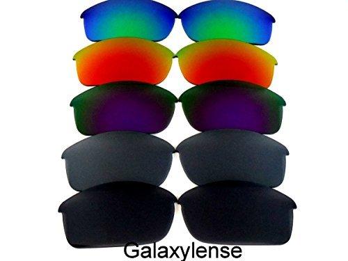 Galaxis Ersatzgläser für Oakley Flak Jacket schwarz & grau & lila & rot & grün Farbe 5 Paar,GRATIS S & H - schwarz & grau & lila & rot & grün