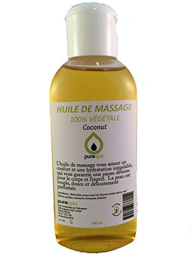 Huile de massage Végétale parfumée NOIX DE COCO - 100ml- Offre découverte