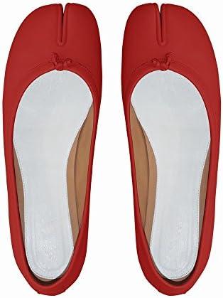 DIDIDD Súper Zapatos de Dedo Partidos de Fuego Zapatos de Herradura Planos Realmente Boca Baja,Segundo,34