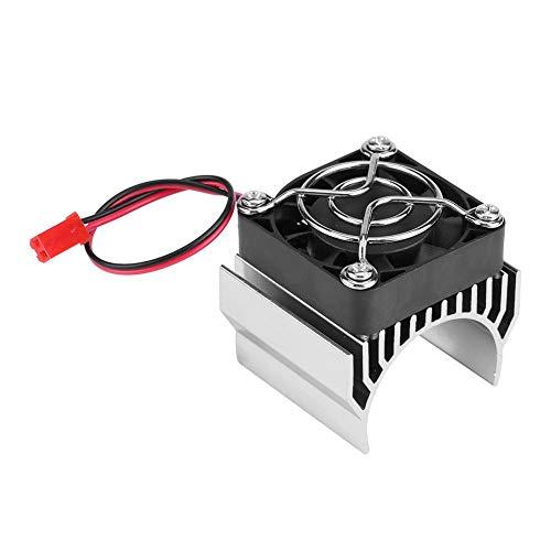 RC Motor kühlkörper mit Lüfter, RC Kühlkörper Lüfter für 1/10 Elektrische RC Auto 540/550/3650 Ersatzersatzteil Zubehör( Silber)