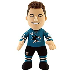 NHL San Jose Sharks Thomas Hertl Player Plush Doll, 6.5-Inch x 3.5-Inch x 10-Inch, Teal