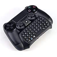 GAMINGER Tastiera per controller Dualshock per PlayStation 4 PS4 QWERTY Layout con mini Chatpad Bluetooh