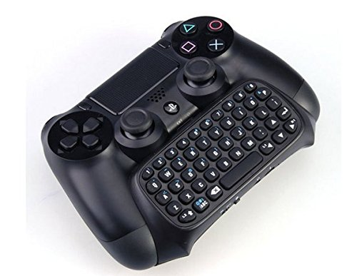 Playstation 4 Tastatur für Controller – drahtlos per Bluetooth für PS4 / PS4 Slim / PS4 Pro Dualshock Controller