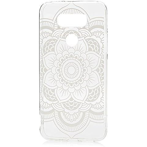 LG G5 Funda, YOKIRIN TPU Cover Case Cáscara Ultra Slim Moviles Libres Pintado Protective Protectora -Totem flor