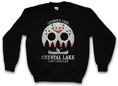 CRYSTAL LAKE CAMP COUNSELOR SWEATSHIRT PULLOVER SWEATER PULLI – Größen S – 3XL Camp Crystal Lake