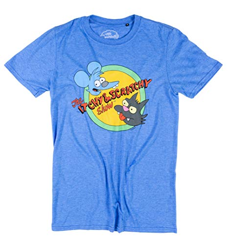 Mens The Simpsons Itchy and Scratchy T Shirt -