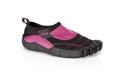 Fashy® Kinder Aqua-Schuh aus Neopren mit Klettverschluss und TPR-Sohle 33 Pink/Schwarz - (7491-43)