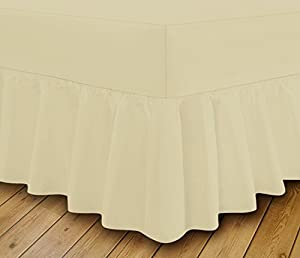Extra Deep Frilled Fitted Valance Bed Sheets Quality Product Easy Care Non Iron18 Colours By Linen Zone
