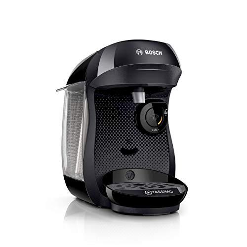 Bosch TAS1002 Tassimo Happy Kapselmaschine (über 70 Getränke, vollautomatisch, geeignet für alle Tassen, einfache Zubereitung, 1.400 Watt) schwarz