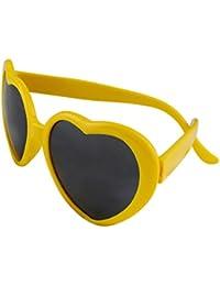 Funie Fashion rétro drôle d'été amour coeur forme Lolita lunettes de soleil cadeaux (blanc) yaGvI9
