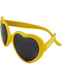 Funie Fashion rétro drôle d'été amour coeur forme Lolita lunettes de soleil cadeaux (blanc)