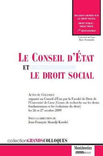 Le Conseil d'Etat et le droit social
