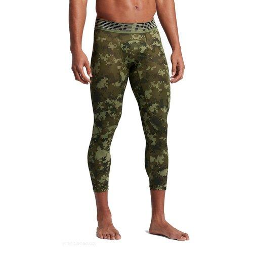 Nike M NP hprcl TGHT 3QT Digi Camo Leggings, Mann M Grün (Palmengrün/legion grün/schwarz) (Grüner Mann Body)