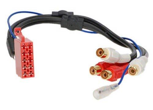 RTA 003.021-0 Aktiv- Adapter für ISO 10-poliger Stecker auf 4 Chinch Buchsen