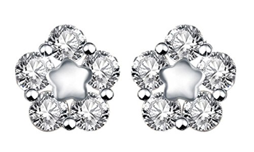 SaySure - Five-pointed star Natural CZ Crystal Real 925 Sterling Silver