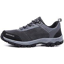 Bestow Zapatillas de Senderismo para Hombre al Aire Libre, Zapatillas de Correr Transpirables, Zapatillas