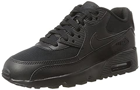 Nike Children and Boys Air Max 90 Mesh Gs Running Shoes, Black (Nero), 3.5 UK
