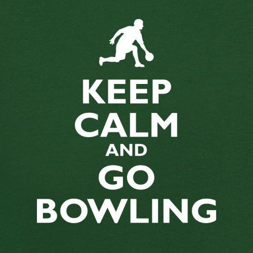 Keep Calm and Go Bowling - Herren T-Shirt - 13 Farben Flaschengrün
