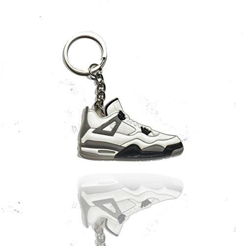 ProProCo Sneaker Schlüsselanhänger Jordan 4s Cement Air Jordans Schlüsselanhänger Fashion für Sneakerheads,hypebeasts und alle Keyholder Jumpman Jordan Fashions