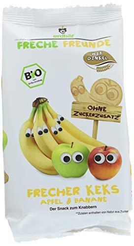 """Freche Freunde Bio Kinder Keks """"Apfel & Banane"""", ohne Zuckerzusatz, mit Dinkel, Snack für Kinder & Babys ab 1 Jahr, 7er Pack (7 x 125 g)"""