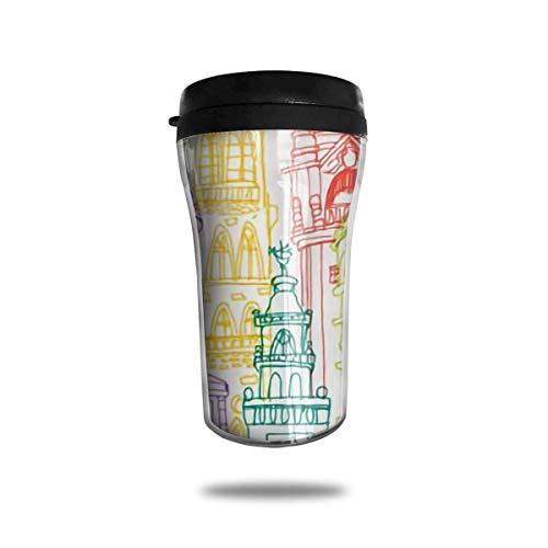 Jxrodekz Classic Travel Mug Edinburgh-Wasserflasche für Kaffee, Getränke, 8 Unzen, dicht -