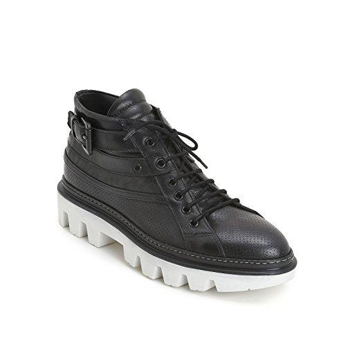 ALESYA by Schuhe&Schuhe Schuhe&Schuhe Schuhe&Schuhe - Schnürschuhe mit Schnalle und Military-Sohle Schwarz  [B06X3RTM5B] a77dab