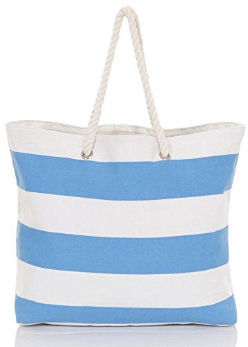 Dannii Matthews , Damen Tote-Tasche Blue Stripes