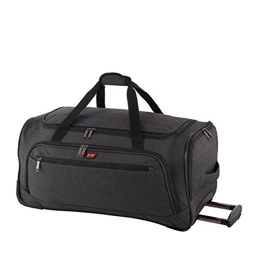 Von Cronshagen Reisetasche mit hochwertigen Rollen, große Rollentasche mit Trolleyfunktion, aus strapazierfähigem Polyester, perfekt für Urlaub, Damen und Herren, ausziehbarer Griff (78 Liter)