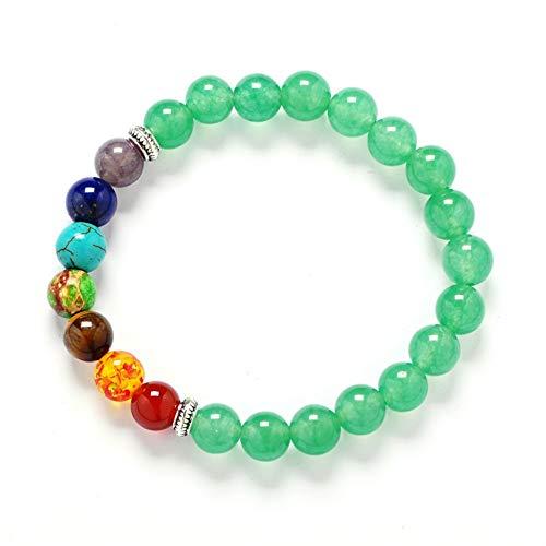 WL Armband Armkette 8mm Muti-Farbe Herren armbänder schwarz Lava 7 Chakra Healing Balance perlen Armband für Frauen Reiki gebet Yoga Armband Steine