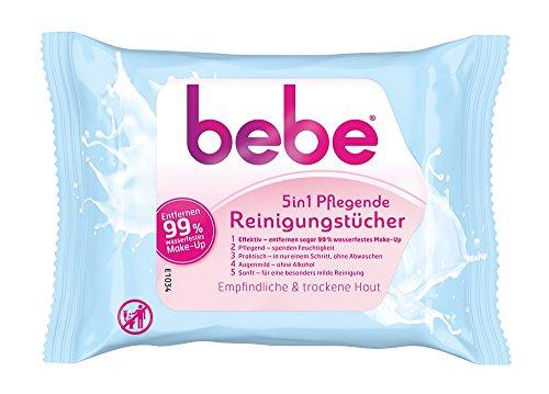 Bebe 5 in1 Pflegende Reinigungstücher, 6er Pack (6 x 25 Stück)