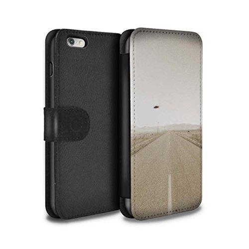 Stuff4 Coque/Etui/Housse Cuir PU Case/Cover pour Apple iPhone 6S+/Plus / Armageddon/Récolte Design / Extra-Terrestre Collection OVNI/UFO Vintage