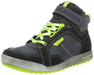 Ecco BOYS GLIDE 731593, Jungen Sneaker, Grau (Dark Shadow/Titanium/ Nubukleder 57180), EU 33