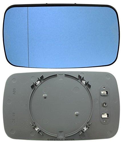 Miroir en verre gauche = droite, bleu, asphérique, chauffant, avec support