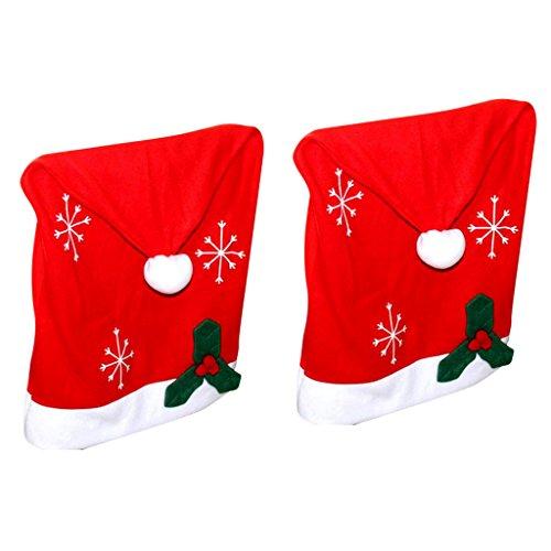 e Red Hat Stuhl zurück Abdeckungen Schöne Weihnachtsgeschenk Satz für Weihnachtsessen Decor (Weiblich Weihnachten Elfen)