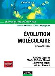 Évolution moléculaire - Cours et questions de révision - Livre+compléments en ligne