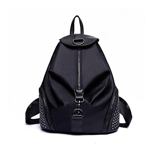 Frau MeiZiWangMeiZiWang Mode Nylontasche Black