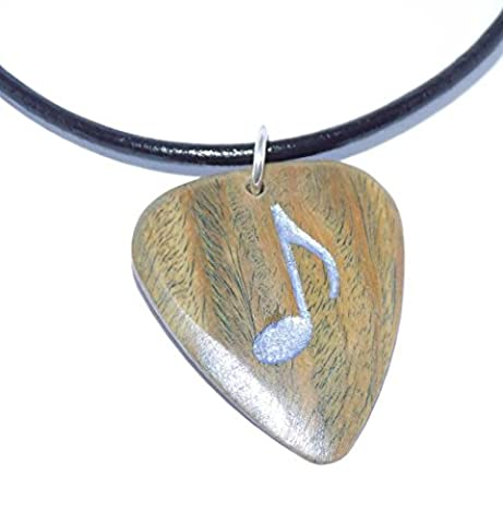 The Tour Store: Wood + Resin Quaver Guitar Pick Pendant on 20