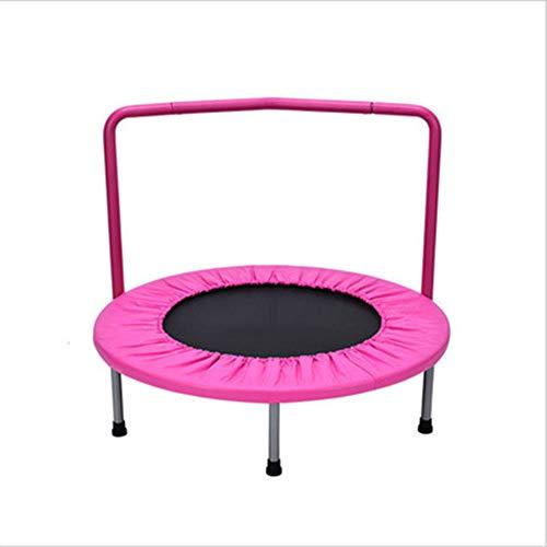 SSLW Home Kinderhandlauf Spring Fitness Trampolin,Pink