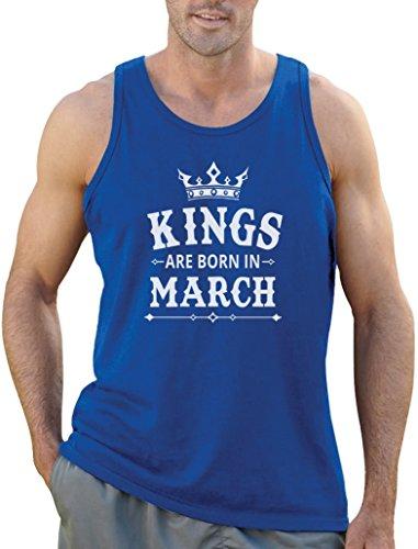 Geschenk für den Mann - Kings are born in März Tank Top Hellblau