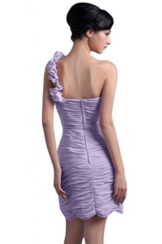 Sunvary donna in Chiffon Una spalla Fodero Birdesmaid corto da Cocktail Party Gowns Lilac