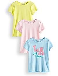 RED WAGON Mädchen T-Shirt, 3er Pack