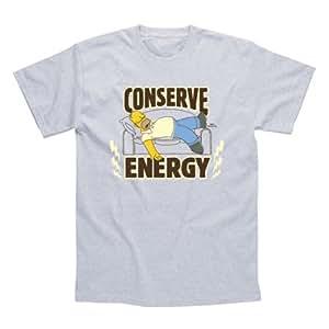 The Simpsons Conserve Energy T-Shirt, Size- XXL