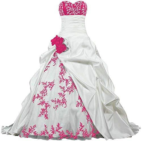 Zorayi Damen Elegante Kapelle Zug Prinzessin Ballkleid Brautkleid Hochzeitskleider Elfenbein & Rose...