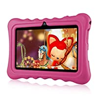 """7"""" Kids Tablet PC Ainol Q88 Android 7.1 1G RAM 8 GB ROM Tablet GMS Google Certified External 3G Portable Kid-Proof Silicone Case Dual Cameras Netflix & YouTube Supported (Pink)"""