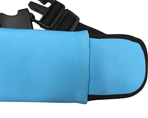 YKD Hüfttaschen Sport Running Gürteltasche mit Kopfhörer Slot & Reflective Strap & Kompartiment,Wasserdicht und Schweiß Neopren Material-Y16 Blau