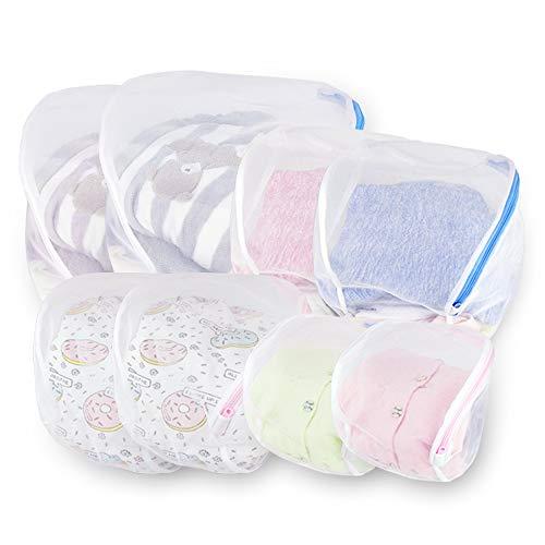 Wäschenetz für Waschmaschine, 8 Stück Wäschebeutel Set mit Reißverschluss, einzig Kugelform Wäschesack, Wäschetasche für BH, Schuhe, Unterwäsche, Socken, Pullover, Kleidung von Zebrum (8 Stück Bettwäsche-set)